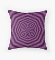 Purple Octagon Rings Throw Pillow