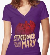 The Dollop - Stagecoach Mary Women's Fitted V-Neck T-Shirt
