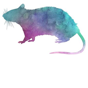 Adore Rats Watercolor by Psitta