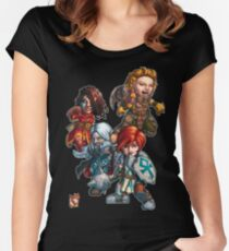 Fitzhywel's Fantastical Paraphernalia: The A Team! Women's Fitted Scoop T-Shirt