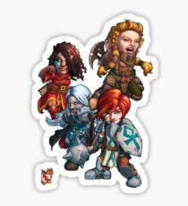 Fitzhywel's Fantastical Paraphernalia: The A Team! Sticker