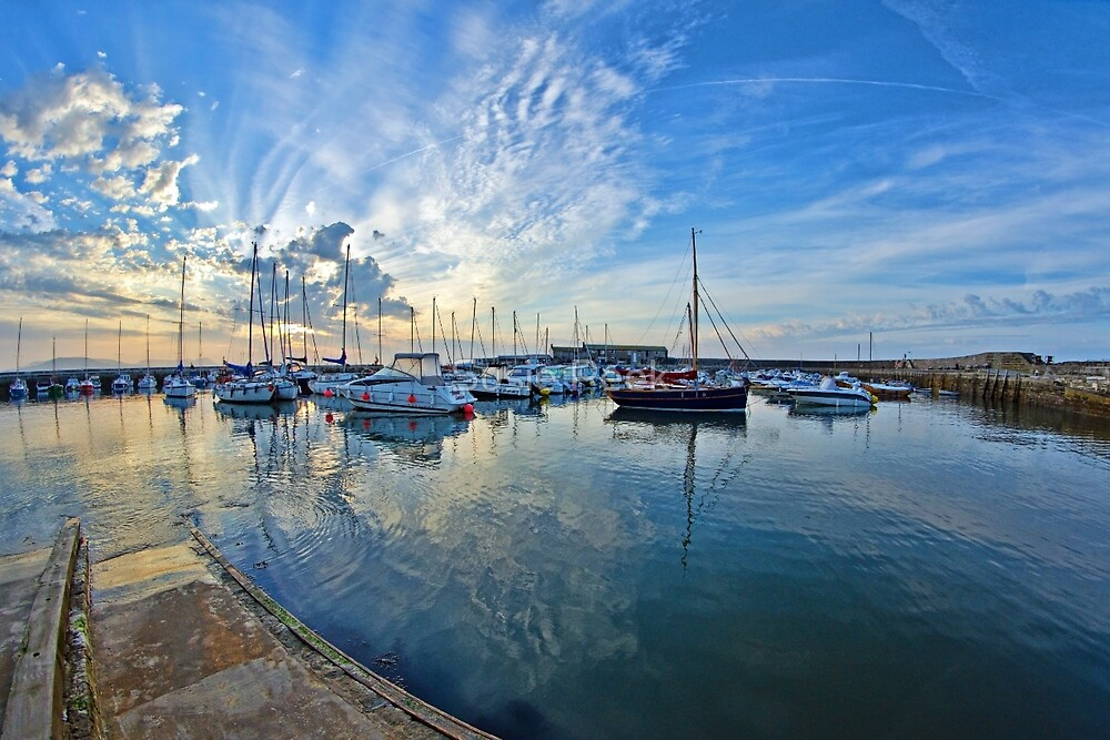 September Morning At The Harbour by Susie Peek