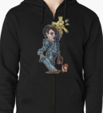 Fitzhywel's Fantastical Paraphernalia: Paladin! Zipped Hoodie
