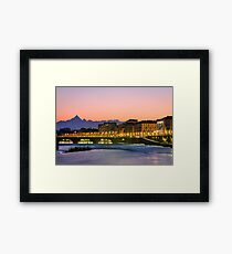 Turin (Torino), river Po and Monviso at sunset Framed Print