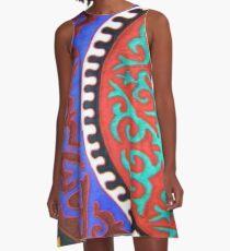Balkarian (Tawlula) Rug Pattern A-Line Dress