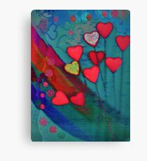 Hearts in the wind Canvas Print