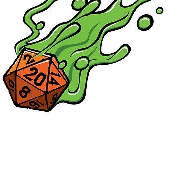 D20 slime die by GrimsD20s