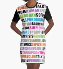 80s new wave music Graphic T-Shirt Dress