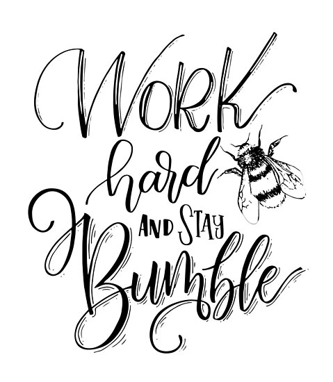 Work Hard And Stay Bumble by EPOOCH