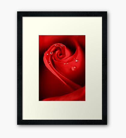 Red Swirl Framed Print