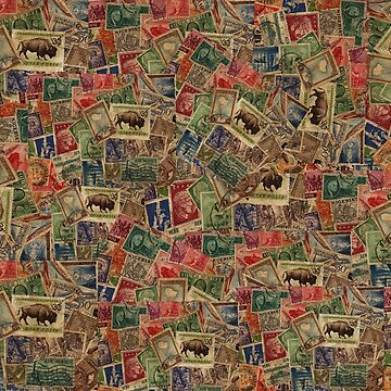 World Postage Stamps Collection by NaturePrints