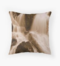 Swallow falls serpia Throw Pillow