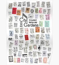 City Gardens Punk Card Print version 2.0 Poster