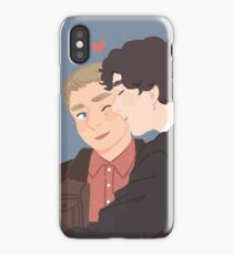 Sherlock and John Cheek Kiss iPhone Case/Skin