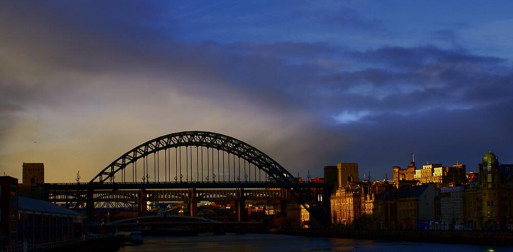 Tyne Bridges in Winter by Vandit
