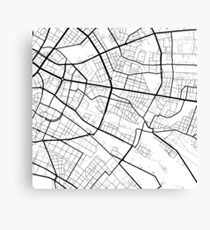 Friedrichshain - Berlin - Germany - Minimalist Design Map Canvas Print