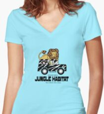 Jungle Habitat - West Milford, NJ Women's Fitted V-Neck T-Shirt
