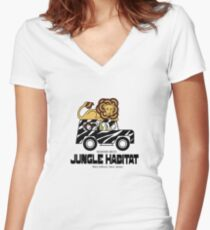 Jungle Habitat - West Milford, NJ Women's Fitted V-Neck T-Shirt