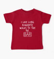 I Like Long Romantic Walks To The Bar Baby Tee