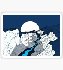 river in the valley Sticker