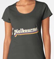 Melbourne, VIC | Retro Rainbow Premium Scoop T-Shirt