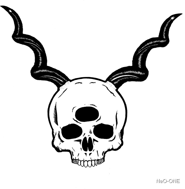 Three Eyed Skull Sticker