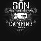 Son The Man The Myth The Camping Legend Shirt by WarmfeelApparel