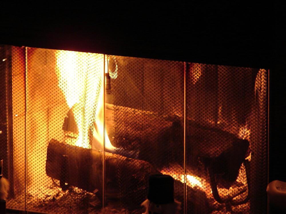 Cozy fire.... by Glen Baker