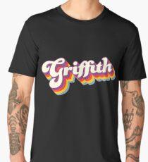 Griffith, NSW   Retro Rainbow Men's Premium T-Shirt