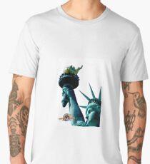 Lady Liberty Likes Her Waffles Too Men's Premium T-Shirt