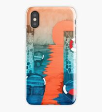 Sun Falling into the Sea iPhone Case
