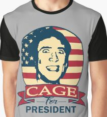 Cage For President Graphic T-Shirt