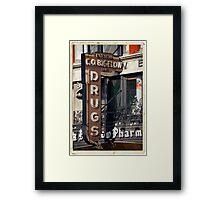 Drugstore in the West Village - Kodachrome Postcards Framed Print