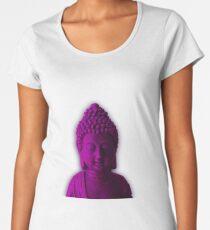 Ultra Violet Calm Buddha face Women's Premium T-Shirt