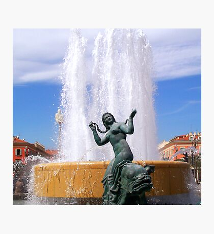 Magnificent fountain and statue Photographic Print
