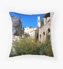 Pierrefeu, a typical village Throw Pillow