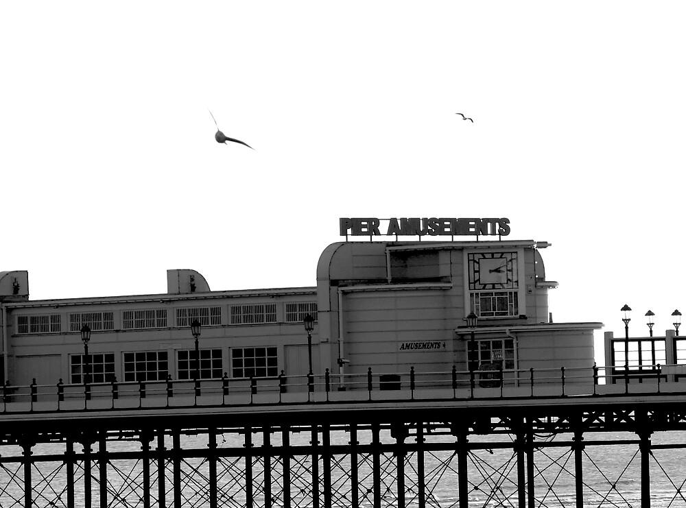 Worthing Pier B&W 1 by Greg Roberts