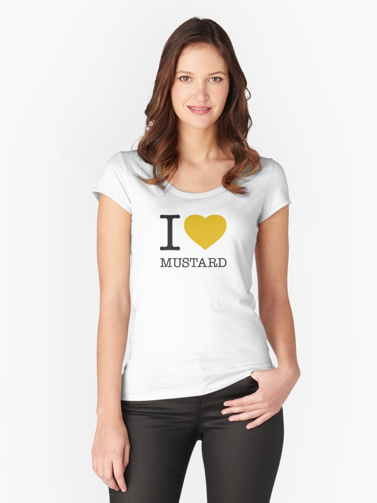 I ♥ MUSTARD Women's Fitted Scoop T-Shirt Front