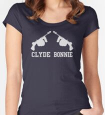 AWESOME RF544 Bonnie & Clyde Valentine's Day Best Trending Women's Fitted Scoop T-Shirt