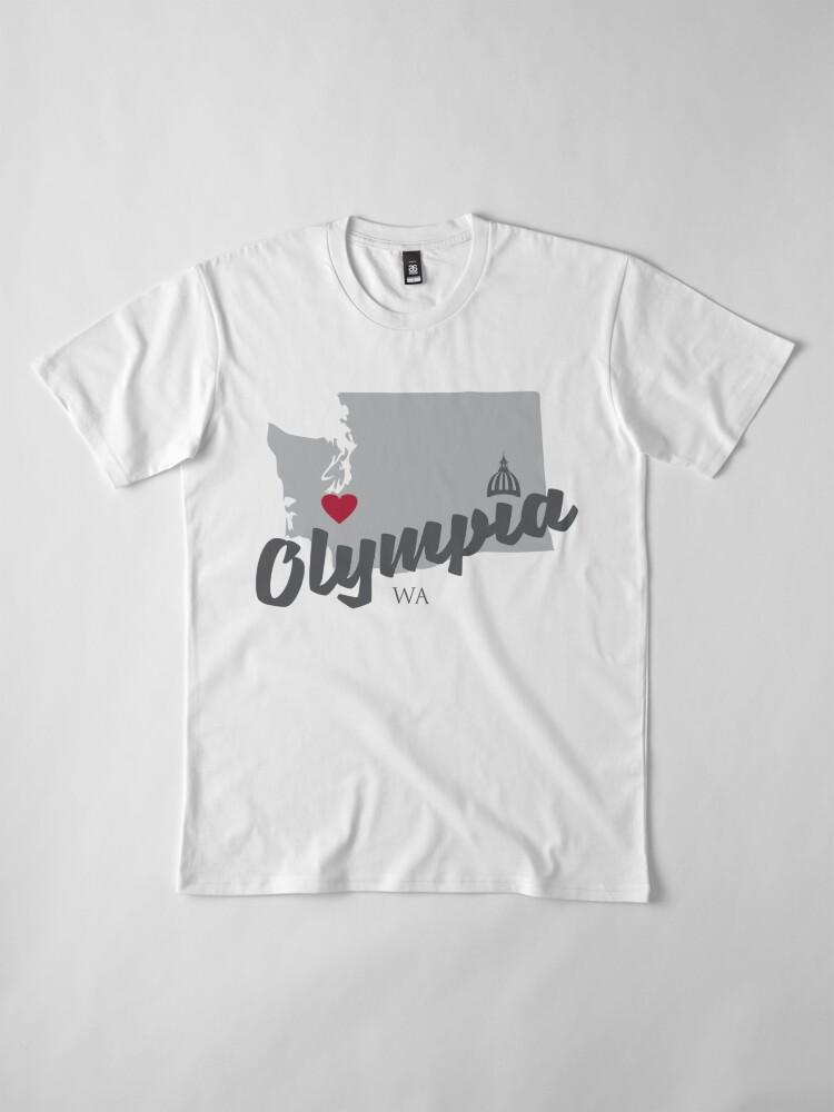 Alternative Ansicht von Olympia, Washington Premium T-Shirt
