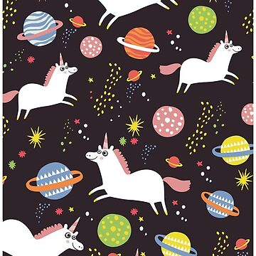 Space unicorns graphic t shirt dress by solarlullaby for Space unicorn fabric