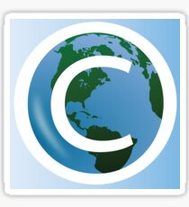 COPYRIGHT EARTH Sticker