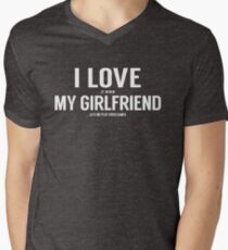 I Love It When My Girlfriend Lets Me Play Video Games Men's V-Neck T-Shirt