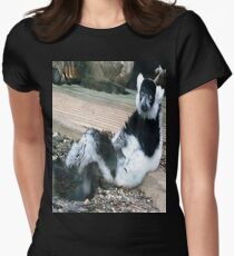 Leisurely Lemur Womens Fitted T-Shirt