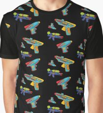 Water gun pattern Graphic T-Shirt