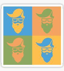 Pop art style hipster Sticker