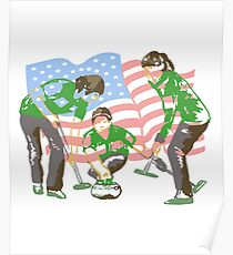 Curling Go USA Poster