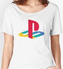 Original PlayStation Logo Women's Relaxed Fit T-Shirt