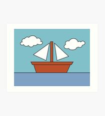 The Simpsons Boat Picture Art Print
