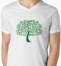 swirls tree Men's V-Neck T-Shirt